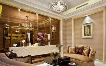 客厅现代欧式风格装潢图片