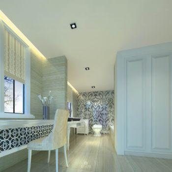 卫生间彩色背景墙简欧风格效果图