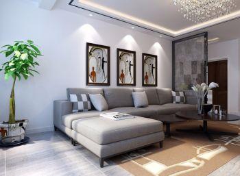 琥珀五环城现代简约风格三室两厅装修案例