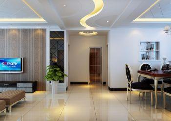 海亮九熙三室两厅现代风格装修效果图