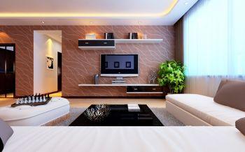 三居室现代风格混搭设计效果图