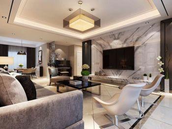 现代简约风格家庭公寓装修效果图