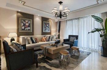 现代中式风格公寓室内装修效果图