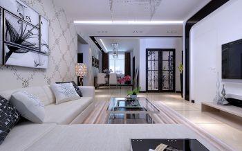 居家现代简约两居室装修效果图
