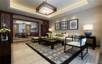 东方蓝海四居室新中式风格效果图