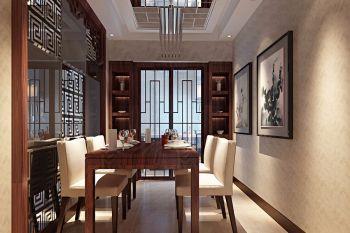 天骄园现代中式风三居室装修效果图