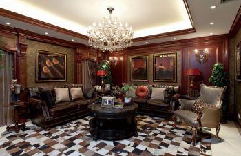 美式风格豪华四居室装修效果图