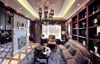 美式典雅风格四居室装修案例