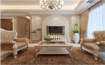 阿奎利亚三居室简欧风格效果图