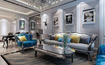 北城阿奎利亚简欧风格二居室装修案例图