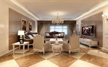 玫瑰园花园洋房欧式三居室装修效果图