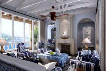 日华里地中海混搭三居室装修效果图