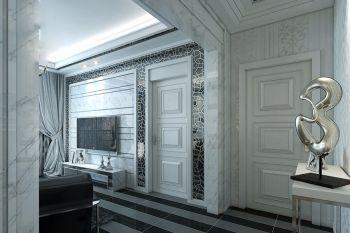 海河大观简欧风格三居室装修设计案例图