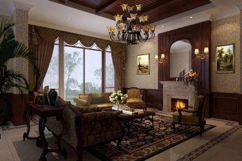 大都会三居室美式风格装修案例设计图