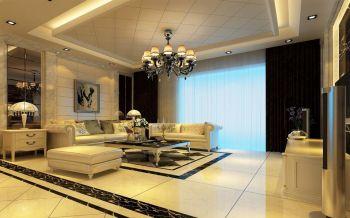 凯旋门四居室现代欧式风格装修效果图