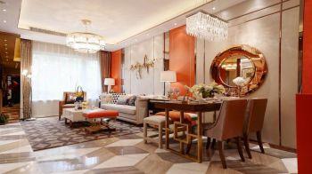 水墨兰庭三居室家庭新中式装修效果图