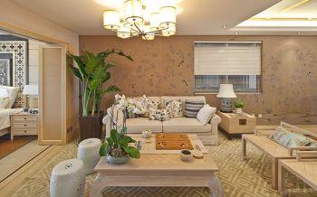 一居室新中式田园风格装修效果图