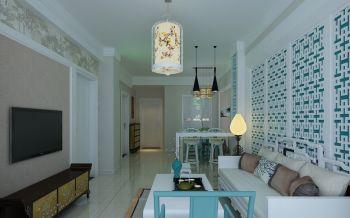 金陵小区二居室家庭新中式装修效果图