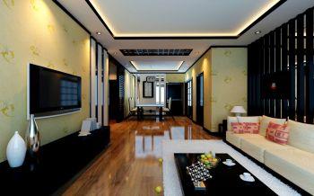 三居室家庭现代中式装修效果图欣赏