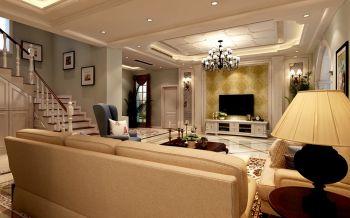 檀香山别墅欧式简约风装修设计案例图