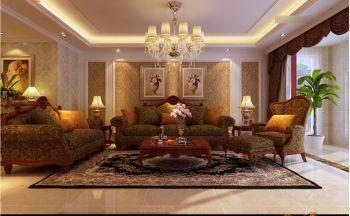 瀚唐二期200平米欧式风格四居室装修效果图