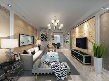 景蜜村105平方三室简欧风格设计效果图