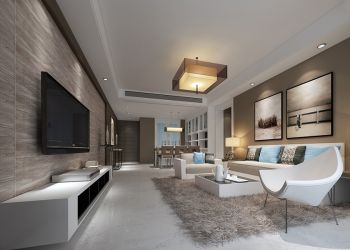 本案以简洁明快为主要特点,重视室内空间的使用效能,强调室内布置按功能区分的原则进行,家具布置与空间密切配合,主张废弃多余的、繁琐的附加装饰,在色彩和造型上追随流行时尚。