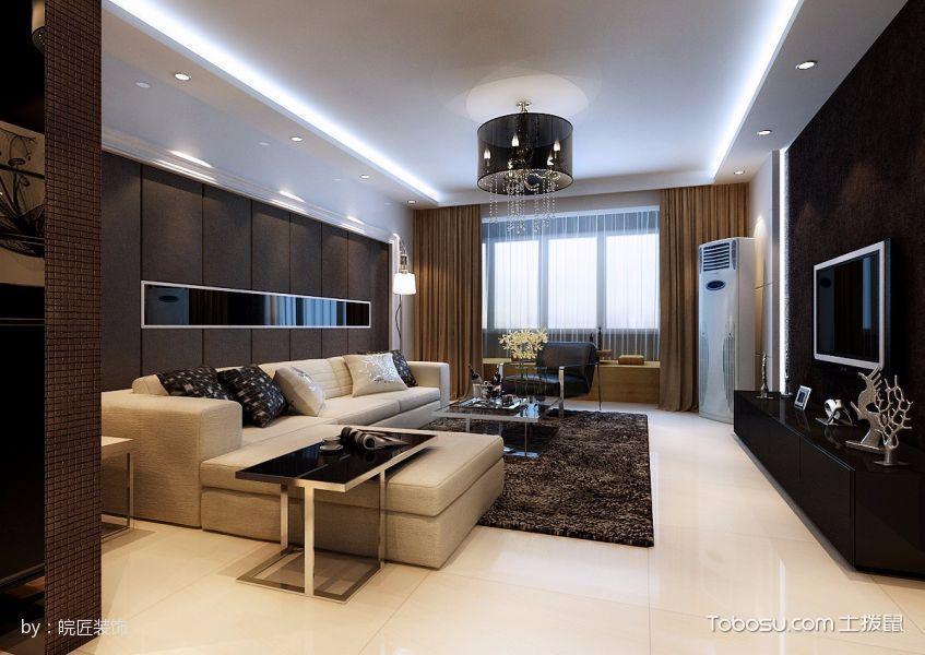 华润凯旋门后现代风格三居室装修效果图