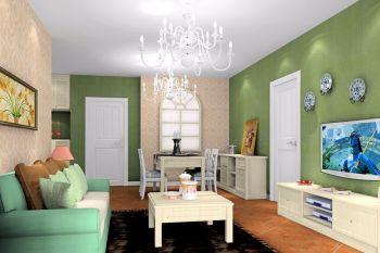 金地艺境三居室时尚多彩简约风格装修效果图