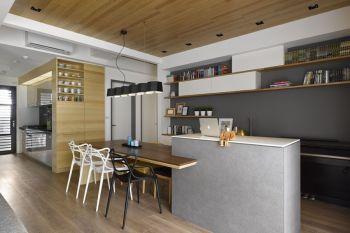 自建房现代简约风格二居室装修效果图