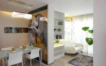 现代简约风格家庭三居装修实景案例图片