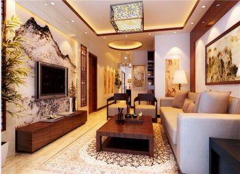 华地紫园家庭三居中式装修效果图