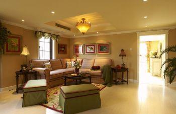 三居室家庭欧式田园风格装修案例实景图