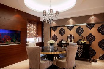 简欧风格三室两厅装修设计实景图
