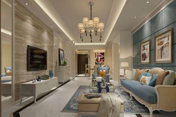 共和世家110平方三室两厅时尚混搭风格装修效果图