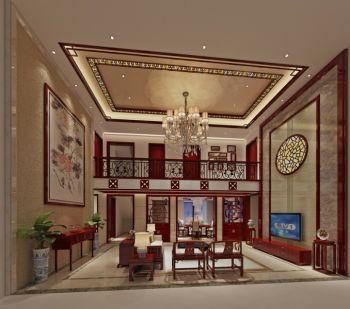 金泓凯旋城350平方中式风格复式楼装修效果图
