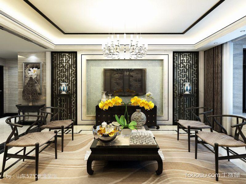 新中式混搭风情三居装修案例