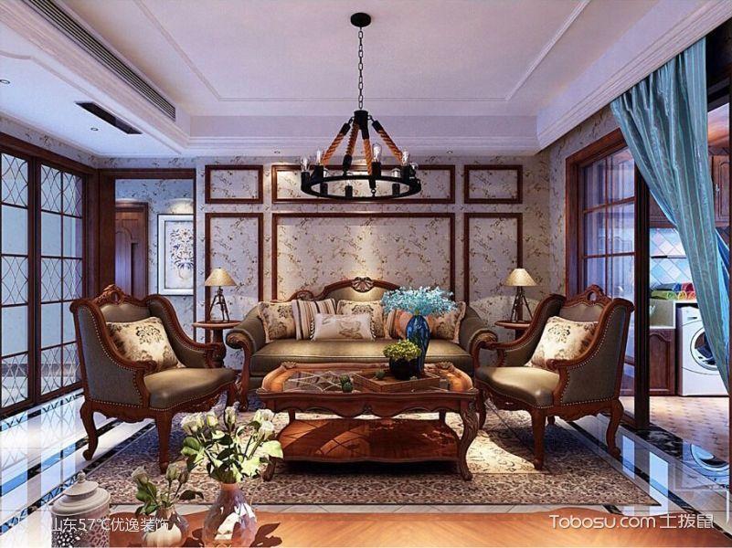 御园美式风装修三居室图片
