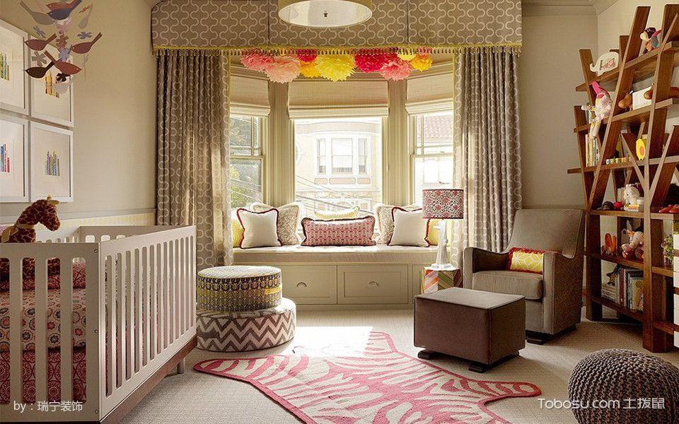 儿童房黄色榻榻米混搭风格装修效果图