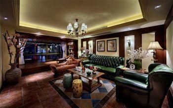 110平米混搭设计欧美情调三居室彩色装修效果图