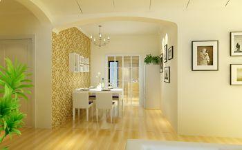 水岸林语现代田园风格二居室装修效果图