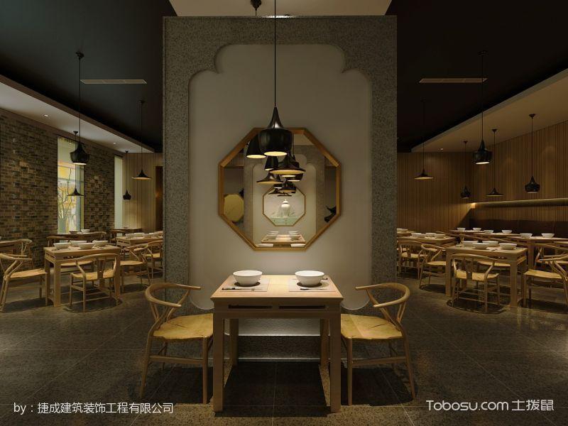 醉江南中式茶餐厅双人桌装潢设计