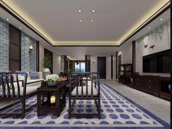 水墨兰庭新中式风三居装修图片