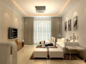 现代简约116平三居室设计效果图