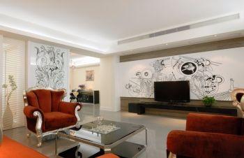 95平欧式时尚三居室装修图片