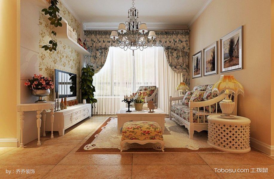 田园风格小两居室装修效果图欣赏