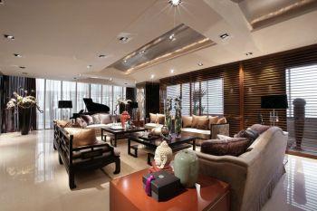 万科云鹭湾中式混搭风格四居室装修效果图