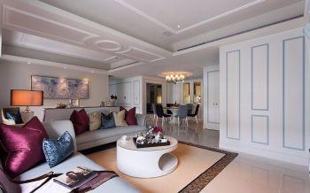 欧式混搭法式风格三居室装修效果图