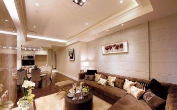 古典风格简单三居室装修效果图