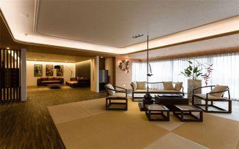 中式混搭风格四居室装修效果图